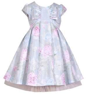 Iris & Ivy Little Girl's Floral Shantung Party Dress