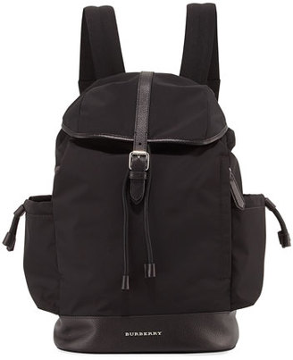 Burberry Watson Flap-Top Diaper Bag Backpack, Black $795 thestylecure.com