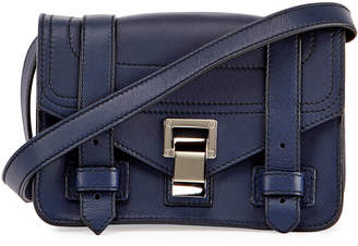 Proenza Schouler PS1 Mini Leather Crossbody Bag, Blue