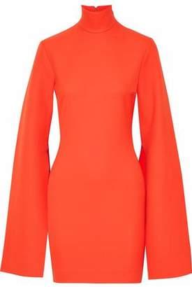 SOLACE London Franklin Crepe Turtleneck Mini Dress