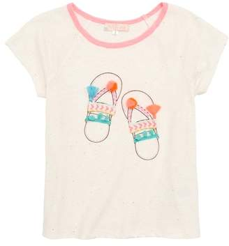 Truly Me Sandals Embellished Tee