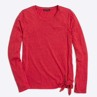 J.Crew Factory Long-sleeve side-tie T-shirt