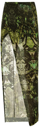 Helmut Lang Cicadae-print maxi skirt