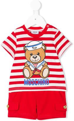 Moschino Kids teddy bear print two piece set