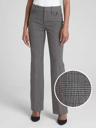 Gap High Rise Baby Boot Plaid Trousers