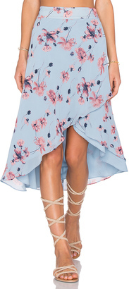 House of Harlow x REVOLVE Maya Wrap Skirt $110 thestylecure.com