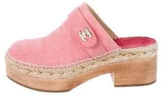 Chanel Platform Espadrille Clogs