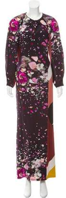 Fendi Floral Print Silk Dress