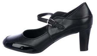 Etienne Aigner Leather Mary Jane Pumps