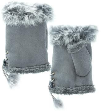 Adrienne Fingerless Fur Gloves