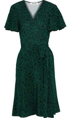 Diane von Furstenberg Floral-print Silk Wrap Dress