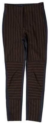 Sophie Theallet Pin-Stripe Mid-Rise Pants