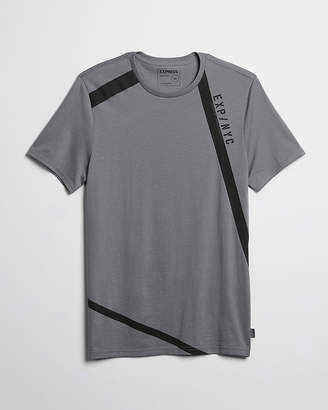 Express Exp Nyc Triangle Reflective Graphic Tee