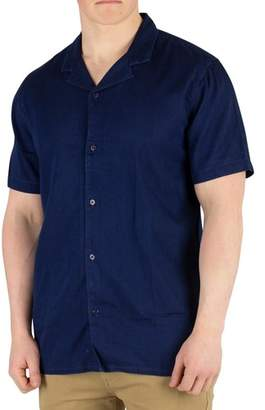 Men's Cubano Shortsleeved Shirt, Blue