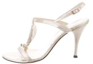 Versace Metallic Embellished Sandals