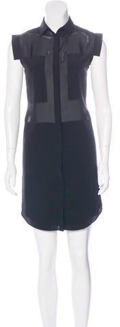 Alexander WangT by Alexander Wang Sheer Sleeveless Dress