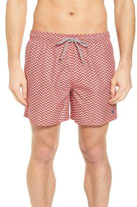 Ted Baker Caven Geo Print Swim Trunks