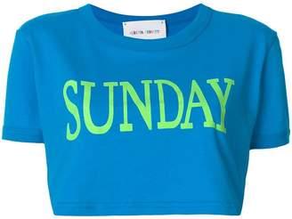 Alberta Ferretti Sunday cropped T-shirt