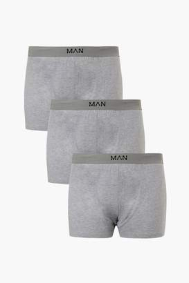 boohoo Big And Tall MAN Branded 3 Pack Jersey Boxers