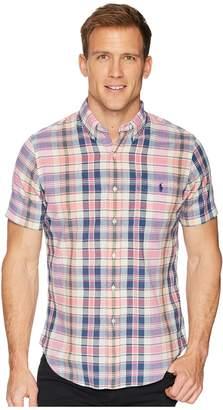 Polo Ralph Lauren Madras Short Sleeve Sport Shirt Men's Clothing