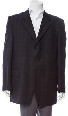 Fendi Plaid Virgin Wool Blazer w/ Tags