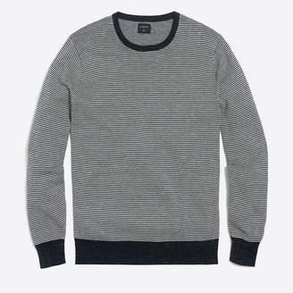 J.Crew Factory Cotton-linen striped crewneck sweater