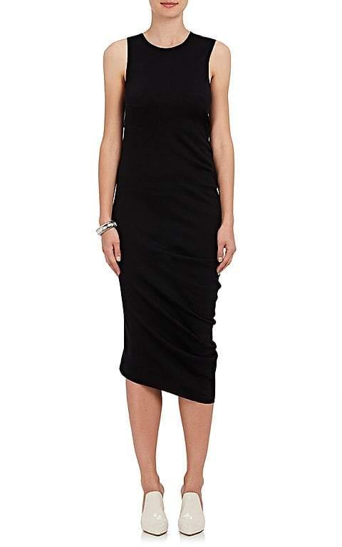Calvin Klein CALVIN KLEIN WOMEN'S DRAPED-SIDE SLEEVELESS SHEATH DRESS