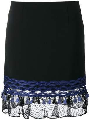 Jonathan Simkhai lace-trimmed mini skirt