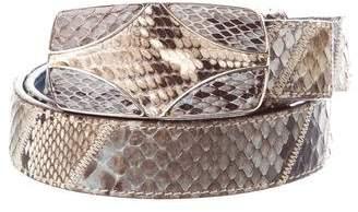 Prada Snakeskin Buckle Belt
