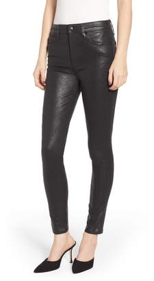 Joe's Jeans Flawless - Charlie Crackle Coated High Waist Ankle Skinny Jeans