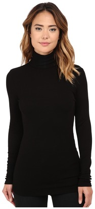 Michael Stars 2x1 Rib Long Sleeve Turtleneck $88 thestylecure.com