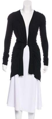 Rick Owens Lilies Pleated Long Sleeve Cardigan