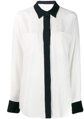 Equipment contrast trim shirt