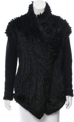 Helmut Lang Fur-Trimmed Wool Jacket