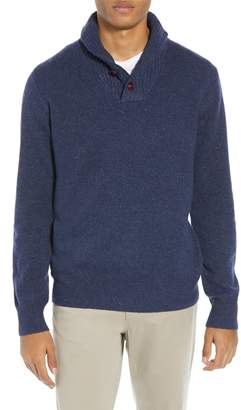 J.Crew Rugged Merino Wool Blend Shawl Collar Pullover Sweater