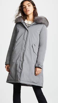 Woolrich W's City Parka with Fur Trim