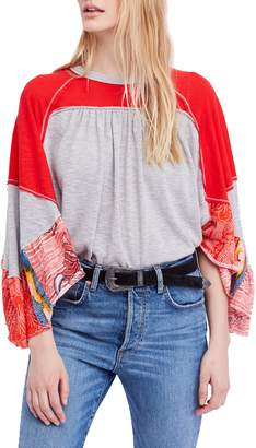 Free People Friday Fever Pattern Mix Top