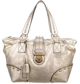 b9853801f495 Pre-Owned at TheRealReal · Dolce   Gabbana Metallic Leather Tote