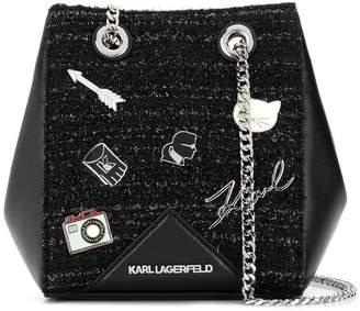 Karl Lagerfeld K/Klassik Pins bucket bag
