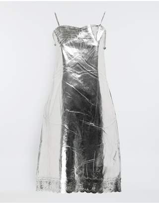 Maison Margiela Silver Midi Strapped Dress