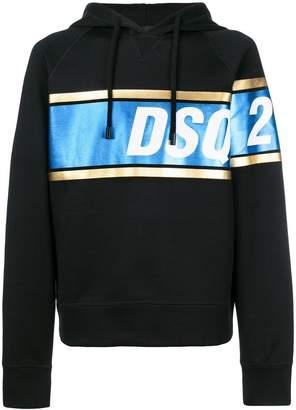 DSQUARED2 logo stripe hoodie