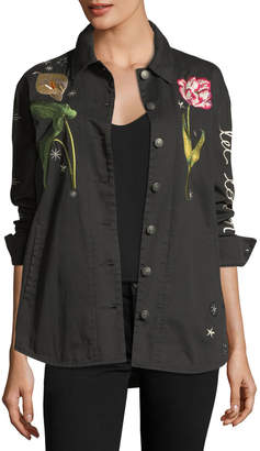 Cinq à Sept Botanical Canyon Embroidered Jacket