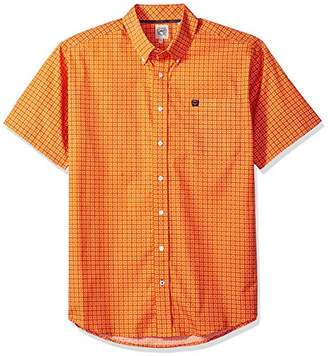 Cinch Men's Classic Fit Short Sleeve Button One Open Pocket Print Shirt