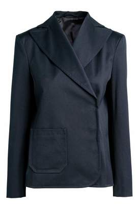H&M Twill Jacket - Dark blue - Women