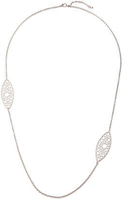 Roberto Coin Bollicine 18k White Gold Long 2-Station Necklace