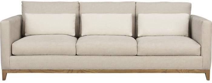 Crate & Barrel Taraval 3-Seat Sofa with Oak Base