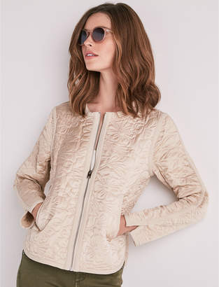 Lucky Brand Floral Quilted Bomber Jacket