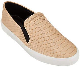 H by Halston Snake Embossed Leather Slip-OnSneaker - Susan