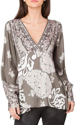 Hale Bob Viviana Satin Tunic Top