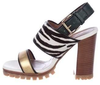 Marni Ponyhair Printed Sandals